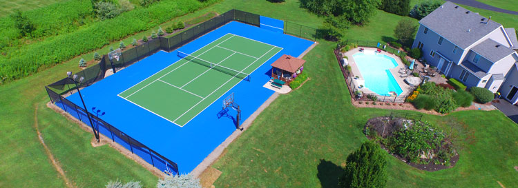 Backyard Tennis Court tennis court resurfacing and repair | rochester & western new york