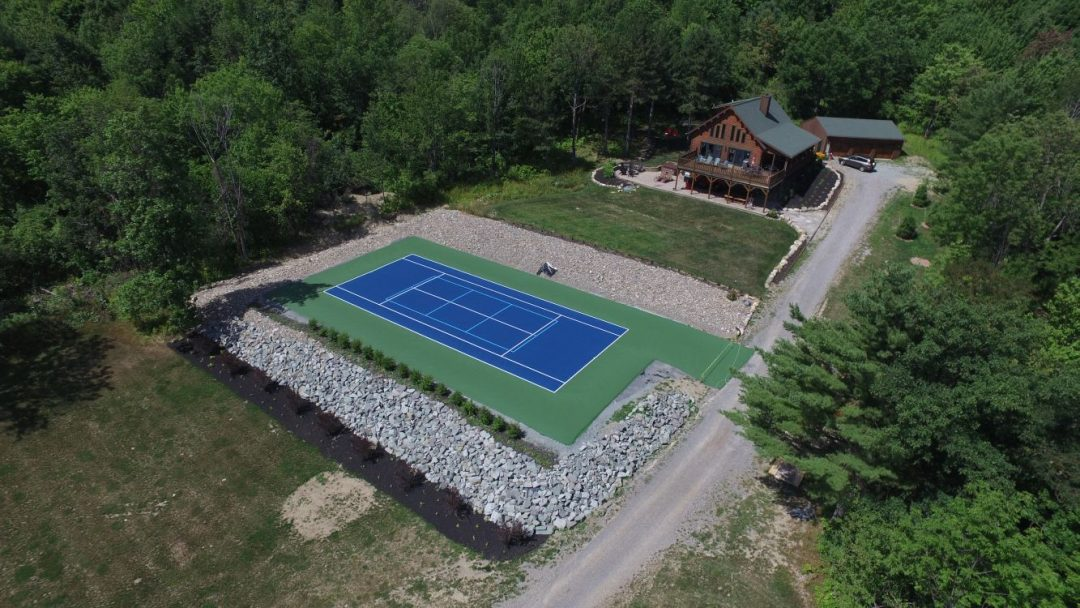 Private Backyard Tennis Court Construction Super Seal